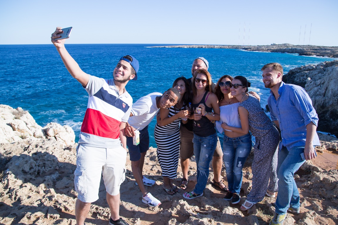 Selfie at Cape Greco, Cyprus